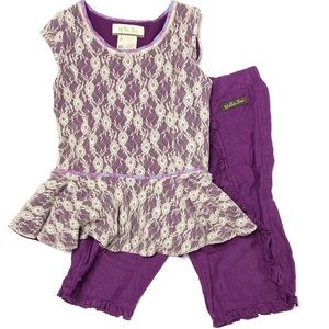 Matilda Jane Outfit Purple Lace 2T